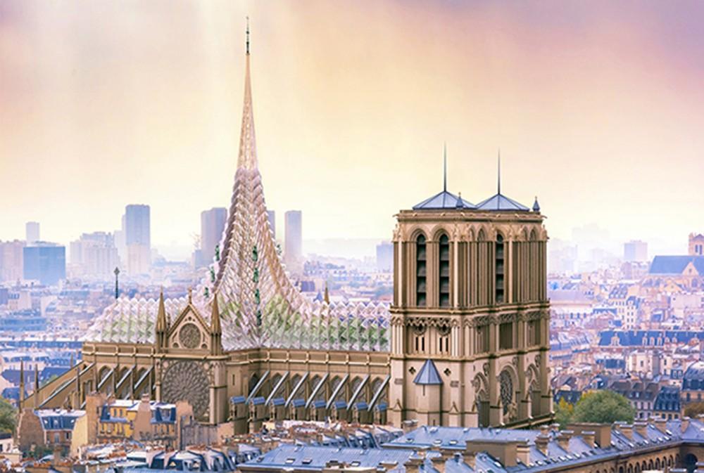 他竟然為巴黎聖母院重建提出了「屋頂農場」的方案「屋顶农场」的方案